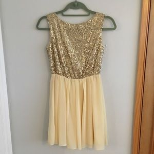 Love Notes' Gold Sequin Dress